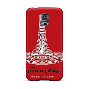 Protective Cell-phone Hard Cover For Samsung Galaxy S5 (Lnp14005YNuX) Provide Private Custom Beautiful Amorphis Band Pattern