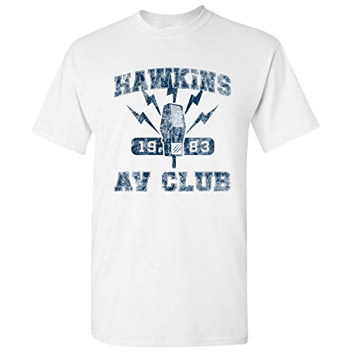 Hawkins AV Club - Vintage 80s TV Show T Shirt - 2X-Large - White