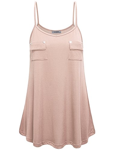 Camisoles Tops for Women, Girls Summer Casual Classic Basic Simple Spaghetti Strap Cami Blouse Shirts Oversize Loose Fit Tunic Tank Tops for Office Work Wear Dark Pink XXL (Girls Spaghetti Shirt Strap)
