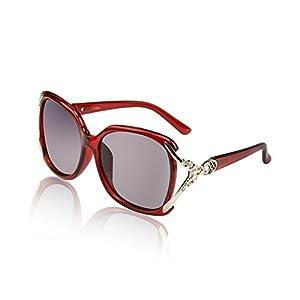 Super Big Circle Shades Cheap Ultralight Luxury Eyeglasses Red 100 UV Protection
