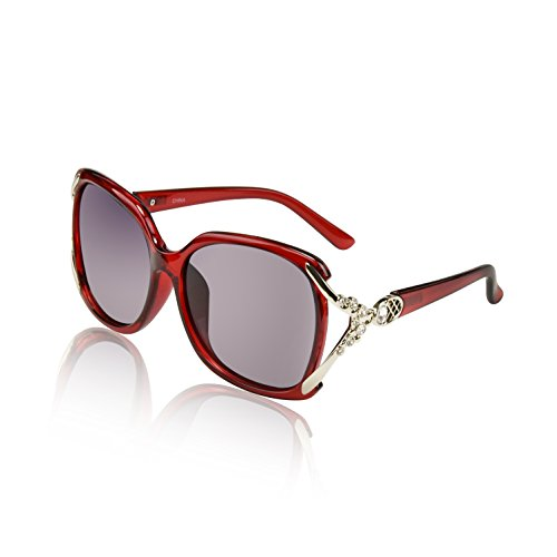 Super Big Circle Shades Cheap Ultralight Luxury Eyeglasses Red 100 UV Protection