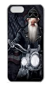 Biker JD Pig Manimal Custom PC Case Cover for iPhone 5 and iPhone 5s Transparent