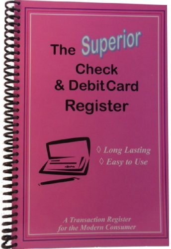 The Superior Check and Debit Card Register (Pink) 5.5 x 8.5 by The Superior Register by The Superior Register