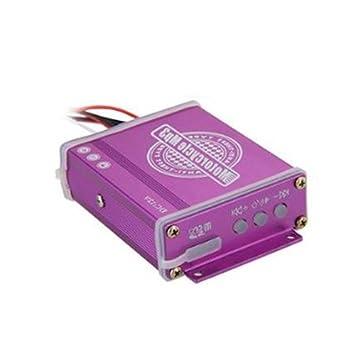 CARCHET® Alarma Seguridad Impermeable Radio TF FM MP3 para Motocicleta Moto Color Negro