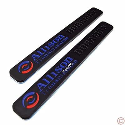 2x Allison Transmission Duramax Hood Emblem for GM Chevrolet Silverado 2500HD 3500HD 1000 2006-2013: Automotive