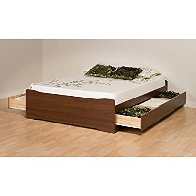 Prepac Coal Harbor Mate's Platform Queen Storage Bed with 6-Drawers