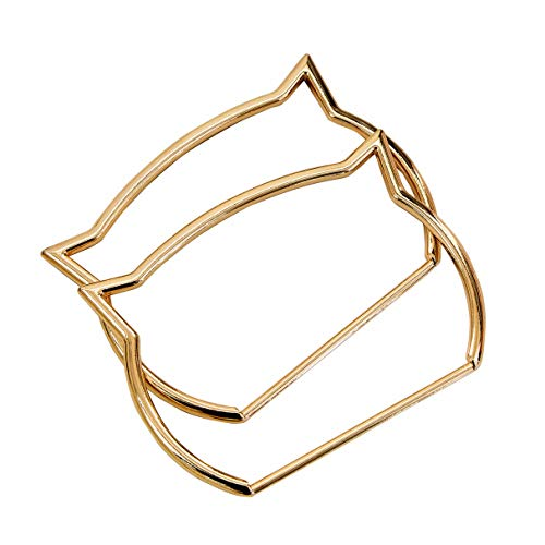 Ownstyle Oval Sexy cat Styles Gold Color Metal Purse Frame Bag Handle Wholesale DIY Handbag Accessories Bag Parts (C Light Gold) ()