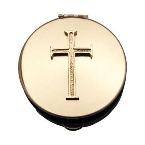 Arts Brass Polished (Pyx With Cross (PS203) - 2 7/8