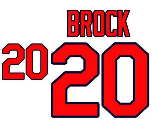 (Lou Brock St. Louis Cardinals Jersey Number Kit, Authentic Home Jersey Any Name or Number Available)