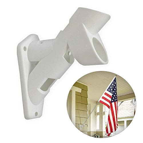 (Premier Designs All-Weather Dual Position Heavy-Duty Plastic Flag Pole Holder PD23941 Mounting Bracket - Industrial Commercial-Grade Premium Durable)