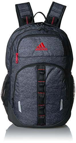 adidas Prime Backpack, Black Jersey/Active Red, One Size
