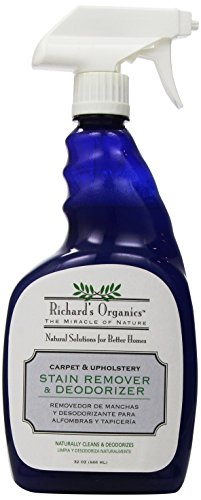 Richard's Organics Stain Remover and Odor Deodorizer Spray - Natural Formula Cleans and Eliminates Odors on Carpet, Upholstery, Hard Floors - For Pet Stains, Crayon, Ink, Scuffs and More (32oz)