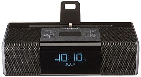 AmazonBasics Lightning Dock Clock Radio (Ipod Dock With Clock)