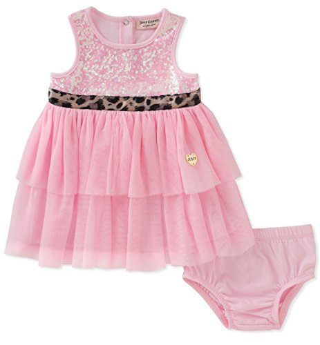 Juicy Couture Baby Girls Dress Panty Set, Pink, ()