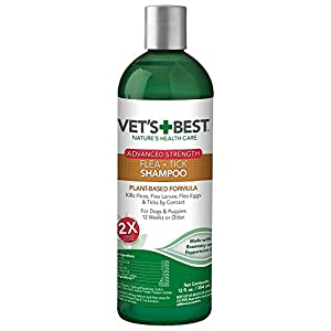 Vet's Best Flea and Tick Advanced Strength Dog Shampoo | Flea Treatment for Dogs | Flea Killer with Certified Natural Oils | 12 Ounces 2
