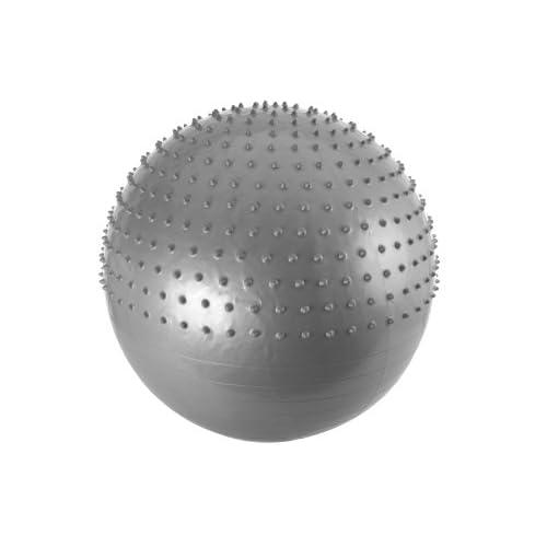 FA Sports ergonomique 1/2 balles de Massage avec pompe à main argent - 65 cm