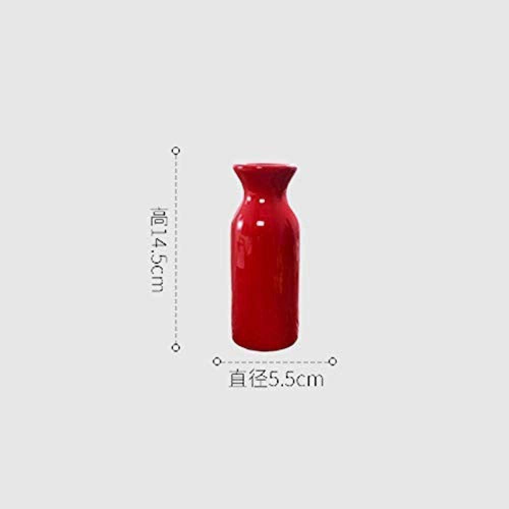 LOOKUR Vase Rouge Composition De Fleurs S/éch/ées D/écoration De Salon Europ/éen Cadeau De D/écoration pour La Maison R/étro Nordique Animal De Simulation 4