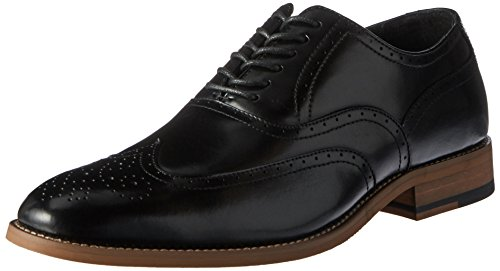 (STACY ADAMS Men's Dunbar-Wingtip Oxford, Black, 9 W US)