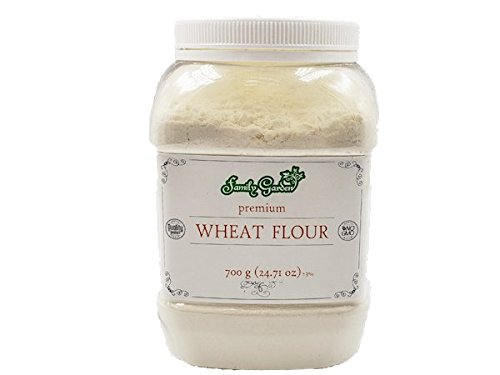 Flour Wheat Premium Quality No GMO 24.71oz/700g Plastic Jar by Wisetargo Food