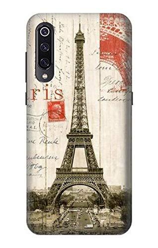 R2108 Eiffel Tower Paris Postcard Case Cover for Xiaomi Mi 9 ()
