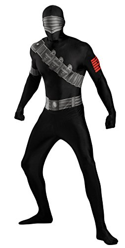 Snake Eyes Deluxe Costumes - Snake Eyes Deluxe Bodysuit Costume - X-Large - Chest Size 42-46