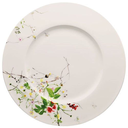 Service Plate, rim, 13 inch | Brillance Fleurs Sauvages