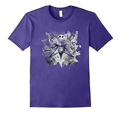 Mens Disney Nightmare Before Christmas Jack Ghosts Tshirt Medium Purple