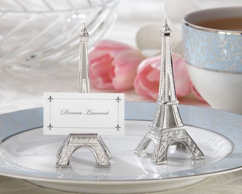 Evening in Paris Eiffel Tower Silver-Finish Place Card/Holder - 192 place cards