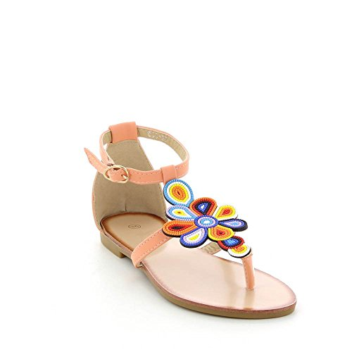 Go Moda - Sandalias planas a flores multicolor - Mujer Rosa