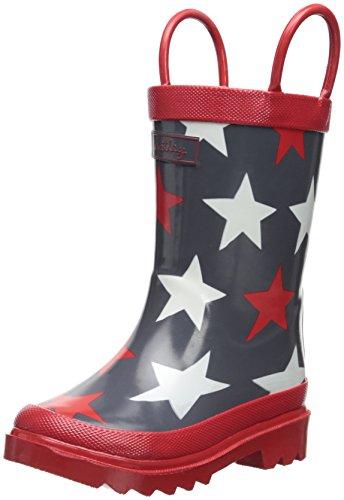 Hatley Little Boys' Rainboots Bright Stars, Brown, 5