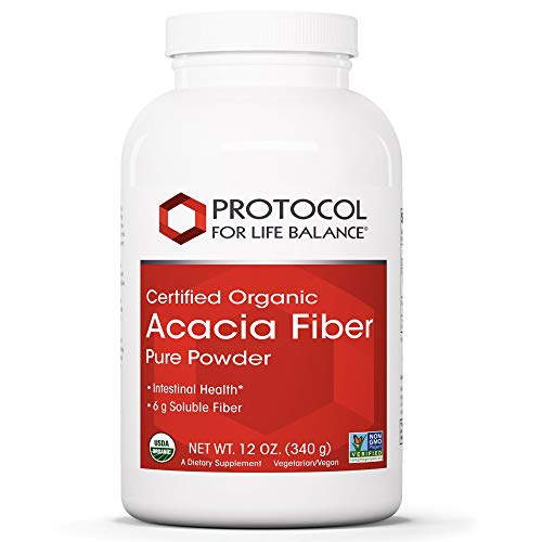 Protocol For Life Balance - Acacia Fiber Powder - Supports Intestinal Health, Acts as Prebiotic to Maintain Healthy Gastrointestinal Environment, Irritable Bowel Relief, Weight Management - 12 Oz