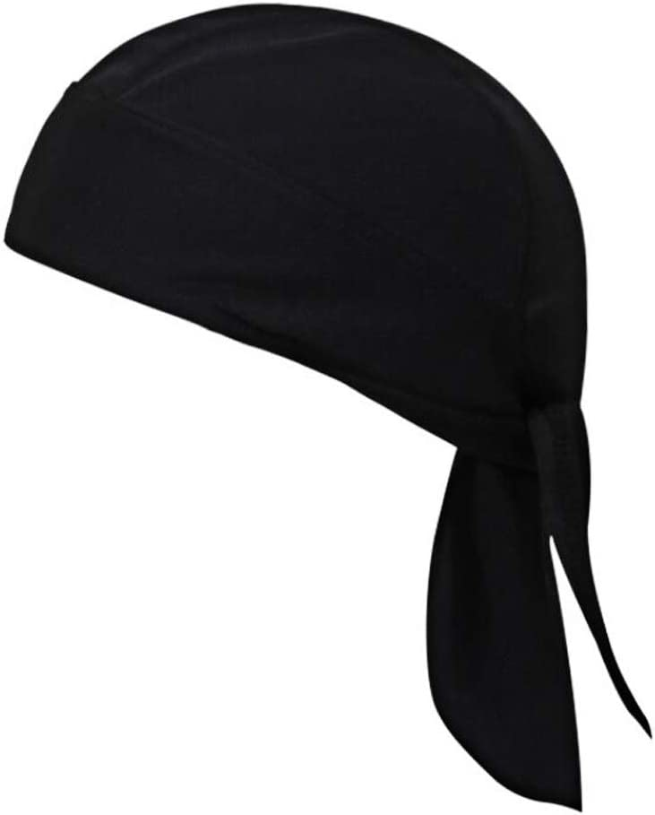 JHGJ High-Performance Mesh Dew Rag Cooling Skull Cap for Riding/Sweatband/Skiing/Motorcycling/Trekking/Mountain climbing (Black)