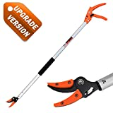 KSEIBI 143015 Long Reach Cut and Hold Bypass Pruner Max Cutting 1/2 inch (5.0 ft - 1.5 m)