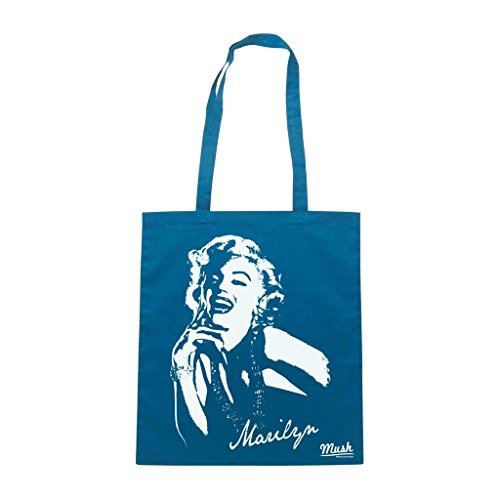 Borsa Marilyn Monroe Vintage - Blu Royal - Famosi by Mush Dress Your Style