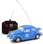 2227 - Carrinho de controle remoto de brinquedo Fusca Classico com luzes - Azul