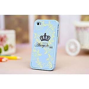 Always Be Light Blue Pattern caso protector de plástico para el iPhone 4 4S