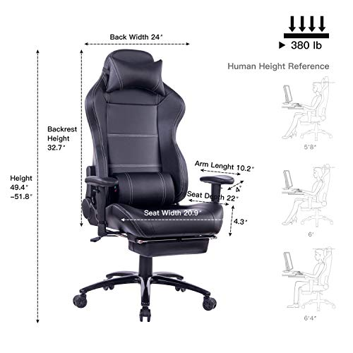 Ergonomic Gaming Chair High Back Racing Style Chair