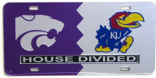 Kansas State / University of Kansas House Divided License Plate