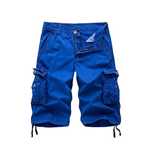 (Osmyzcp Mens Cotton Relaxed Fit Outdoor Camouflage Camo Cargo Shorts-Bapai-Royal Blue-32)