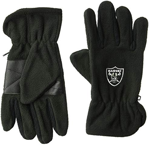 Raiders Fleece Oakland Polar (OTS NFL Oakland Raiders Male Fleece Gloves, Black, Men's)