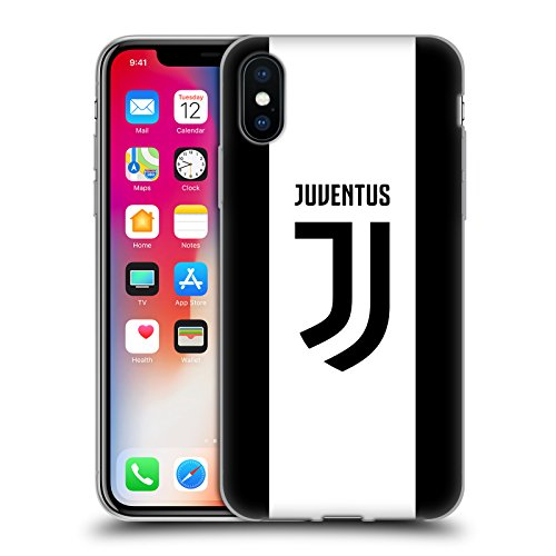 Official Juventus Football Club Home 2017/18 Race Kit Soft Gel Case Compatible for iPhone X/iPhone Xs