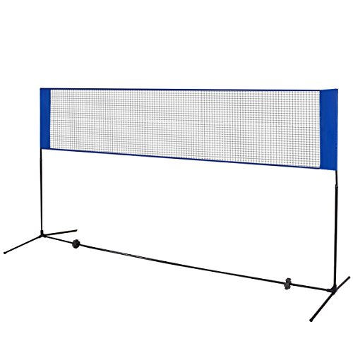Goplus 10'x5' Portable Badminton Beach Volleyball Tennis Training Net Height Adjustable W/ Carrying Bag