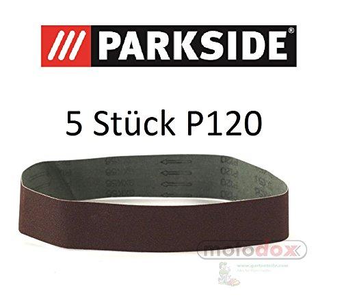 Lot de 5bandes abrasives Grain P60Parkside pour Lidl Parkside Ponceuse à bande psbs 240B2Support et convient également pour psbs 240A1