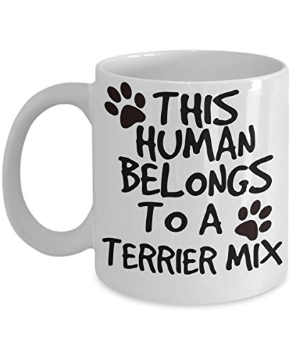 Terrier Mix Mug - White 11oz Ceramic Tea Coffee Cup - Perfect For Travel And Gifts