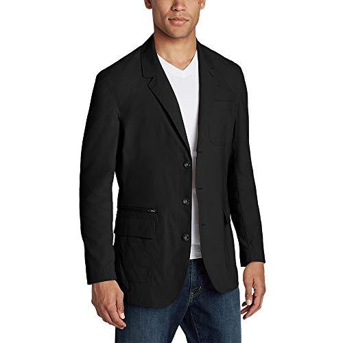 Eddie Bauer Men's Voyager 2.0 Travel Blazer, Black Regular 44 (Men Casual Blazer For)