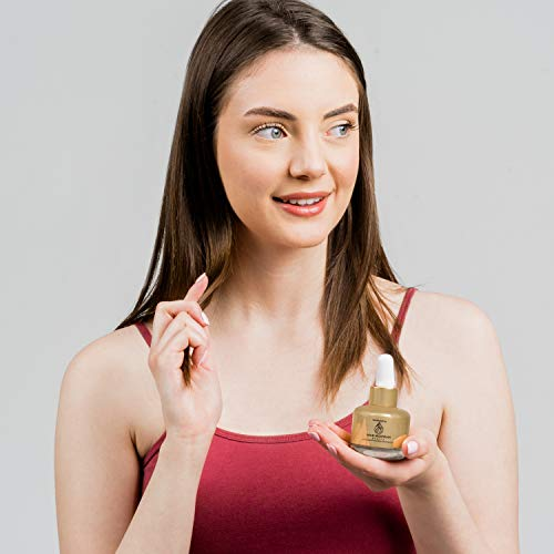 41sZZ9ryhdL - Anti-Aging Face Serum - Nourishing Elixir Beauty Facial Oil Treatment with Rosehip Oil and 24K Gold Dust for Face, Hair and Body, Rose Hip Seed Oil Softens and Helps Reduce Fine Lines and Wrinkles