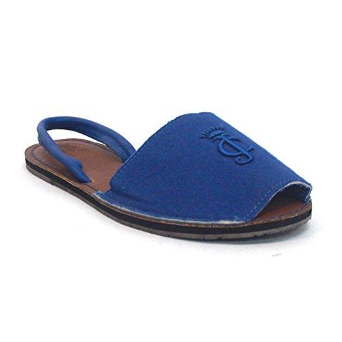 Juicy Couture y pedrería para mujer de ante para patucos, estándar del Reino Unido 3 RRP £85 azul - azul