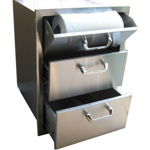 260 Series Triple Storage Drawer with Paper Towel Dispenser