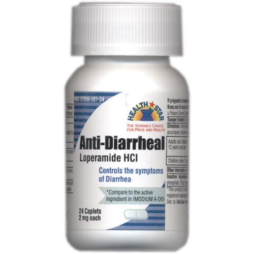 Loperamide HCL Anti Diarrheal 24 caplets controls Diarrhea Compares to Imodium A-D(R)