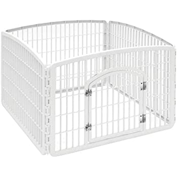 IRIS 24'' 4-Panel Pet Playpen with Door